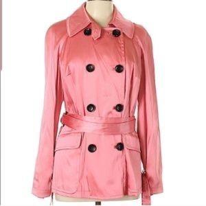INC Pink Satin Coat